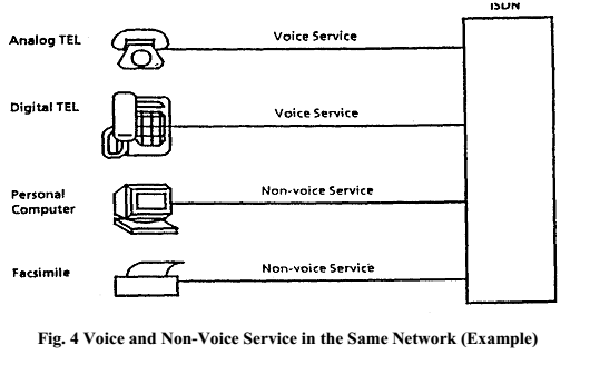 Voice and Non-Voice Service in the Same Network