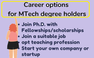 Career options for MTech students