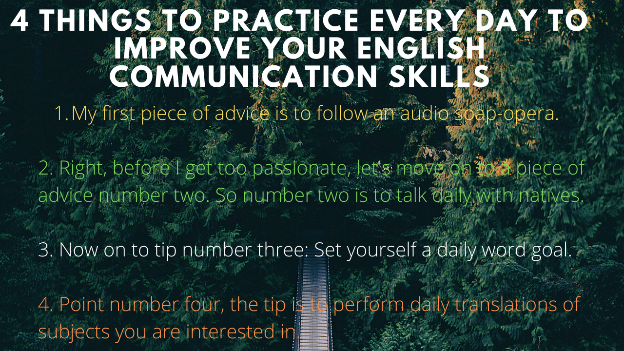 4 Tips to improve your English communication skills